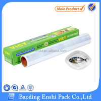 PE Cling Wrap Film For Food widely used in wrapping around food, confectionery, vegetable, fruit, meat, biscuit, etc