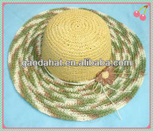 Colorful Crochet Straw Hats For Wholesaler and Retailer