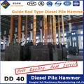dd 40 la barra de guía diesel tipo de pila de martillo