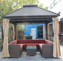 Outdoor building material rattan/wicker sun room green house winter garden house