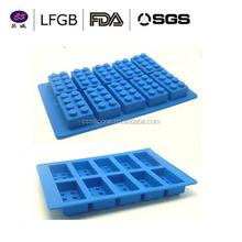 best-selling Colorful Blocks Shape silicone freezer ice tray / unique ice cube tray