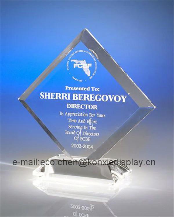 Fábrica personalizado atacado acrílico cristal prêmio troféu