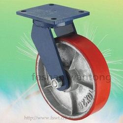 Iron Core With Red PU Top Plate Swivel Caster Wheels Heavy Duty