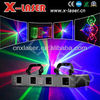 laser light projector four lens three color beam show