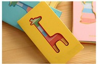 High quaity giraffe small animal color page pocket fresh mini memo pad notes on paper 400pcs