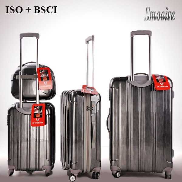 stylish royal polo style 100% PC travel luggage trolley case