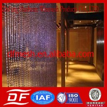 Factory supply high quality decorative metal screen divider curtains /stainless steel decorative mesh curtain