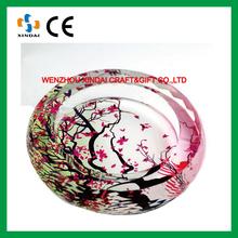 2016 Crystal ashtray,glass ashtray, colored glass ashtray