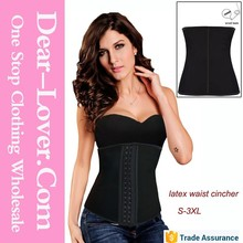 2015 Colorful latex waist training cincher corsets for women
