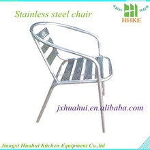 Customized stainless steel table and chairs for wholesale