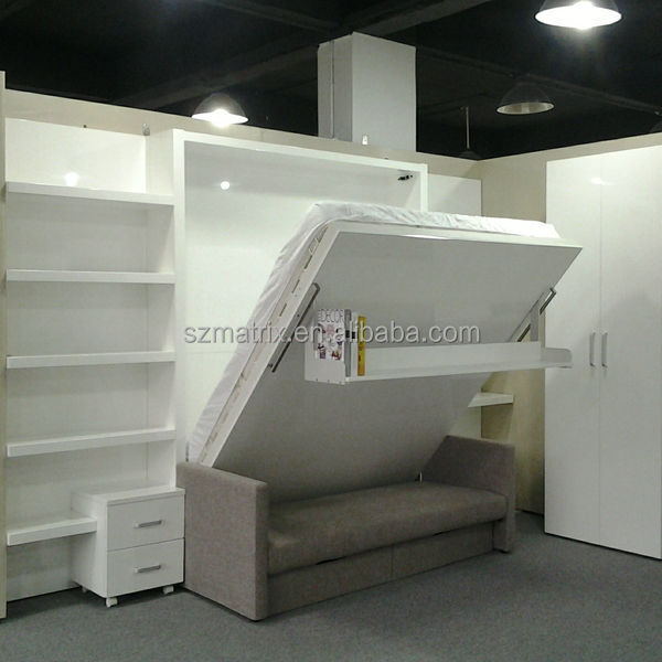 Folding wall bed hidden wall bed murphy bed with sofa - Wall mounted pull down beds ...