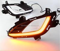 DLAND 2014 ELANTRA SPECIAL LED DAYTIME RUNNING LIGHT FOG LAMP DRL V1, WITH YELLOW TURN SIGNAL, FOR HYUNDAI
