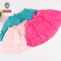 Baby dress 2014 pure color baby dresses petticoat