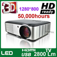 New products 2014 home theater full HD 3D LED multimedia video digital projector proyector beamer