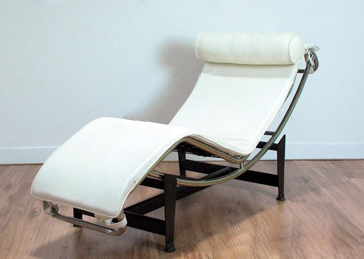 Modern White Leather Reclining Chair Folding Recliner Lounge Chair Lounge Cha