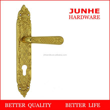 Wenzhou junhe zinc alloy plate gold door handle