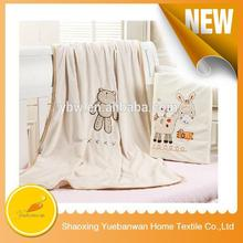 Famouse Brand Wholesale Comfortable Plain dyed acrylic cotton polyester blanket
