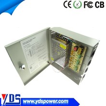 FCC CE approved AC 100~120V/AC 220~240V power supply 12v cctv power supply box support 6chs, 9chs, 18chs surveillance