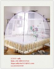 2015 new products Folding Fibre Glass Pole Zipper Mosquito Net