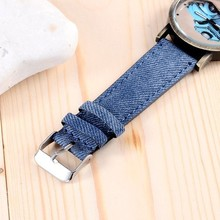 2015 New Car Design Quartz Watch Denim Fabric Strap Watch Unisex Fashion Casual Clock Hours Relojes Mens Womens Wrist Watches