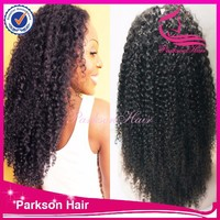 Hot Selling Free Part Wig Natural Hairline Malaysian Kinky Curly Lace Front Wig with High Feedback