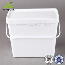 1/2/3 Gallon 3.7/8/9/10/20L Square/ Rectangular Plastic Bucket for Food