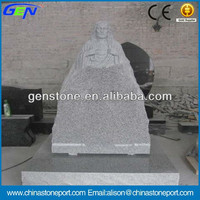 China Cheap G603 Grey Granite Carved Tombstones