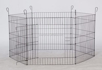 Metal pet enclosure/portable playpen steel/pet play yard folding rabbit pet fence