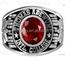 Custom made high class ring/school ring/university ring for graduates