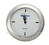 Round promotional gift insert clock,quartz insert clock fit up made in clock insert factory,silver bezel 18mm mini insert clock