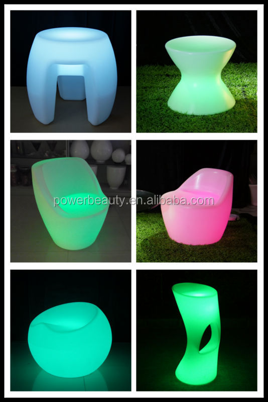 7 color change led light up table and chair cube party for How to change color of furniture