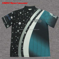 Eco-friendly ink sublimated dry fit t shirts with 1/4 zipper