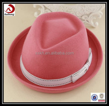 wholesales fashion pink fedora hat