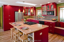 China cherry kitchen cupboard storage and satisfying kitchen planning