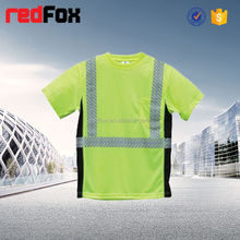 color changing t-shirt low price reflective safety t-shirt for worker safety adult t-shirt