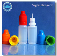 Free shipping 2000pcs 10ml LDPE e liquid empty bottle with child and tamper needle cap