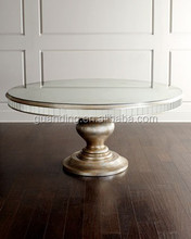 ordinary antique and modern style round top glass mirrored dining/console/coffe/office table