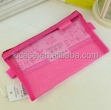 New fashionable plastic pencil case with zipper