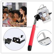 Wand pole extandbale arm for mobile phone rod bluetooth inside selfie stick