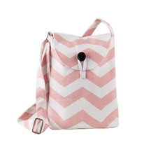 Striped Print Messenger small shoulder long strap bag