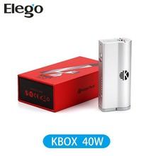 High Quality!Kanger KBox 40W Best Price Kanger Box Mod 40W Min0.5ohm Black&Silver Fast Shipment VS iStick 30/50W Bell Cap