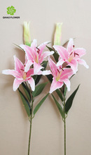 tela de flores de lirio centros de mesa para boda flor artificial