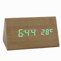 gift promotion hot sale desktop wooden clock environmental friendly clock