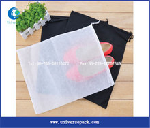 New Cheap Nonwoven Material Drawstring Shoe Dust Bag For Sale