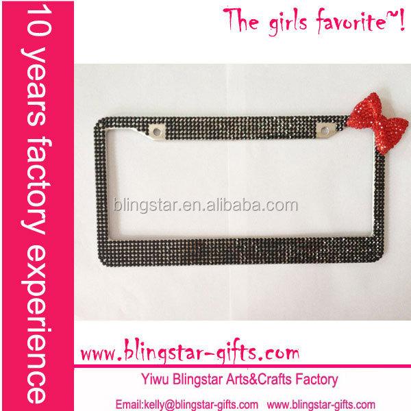 bling bling glitter car license plate frame