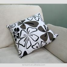 hot sell soft cushion pillow plain digital printing flower print customed square pillow