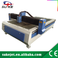 Electric motor-height control for portable cutting machine