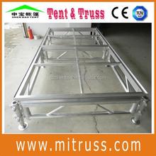 adjustable portable stage platform, event stage platform, Indoor/outdoor aluminium large mobile folding stage