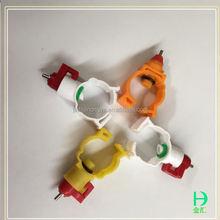 Aves de corral automática precio competitivo y alta calidad de pollo válvula de bola Nipple bebedores