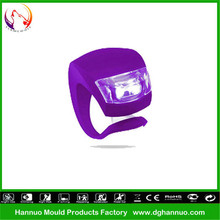 Wholesale 2 LEDs 3 modes silicone material battery powered generator for bicycle with CE&RoHs